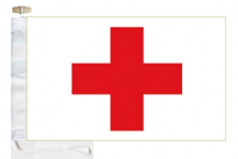 International Red Cross IRC Courtesy Boat Flags (Roped and Toggled)